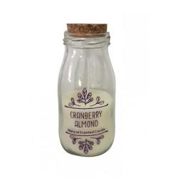 Bougie bouteille - Cranberry & amande Milk