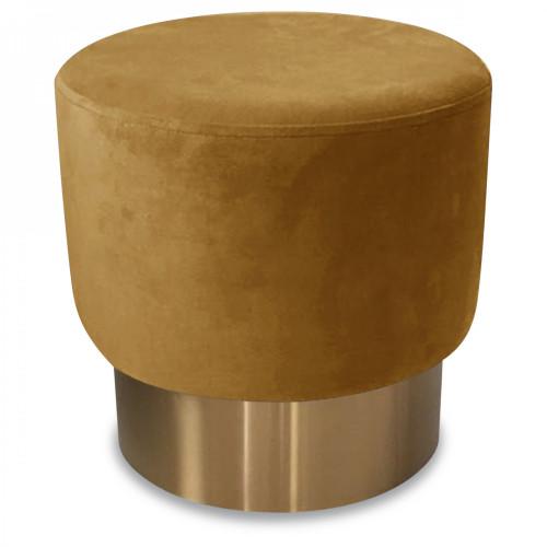 tabouret en velours et m tal couleur miel demeure et jardin. Black Bedroom Furniture Sets. Home Design Ideas