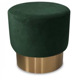 Tabouret vert en velours et métal