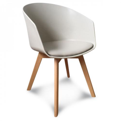 fauteuil taupe coque simili cuir glitnir vendu par 2 demeure et jardin. Black Bedroom Furniture Sets. Home Design Ideas