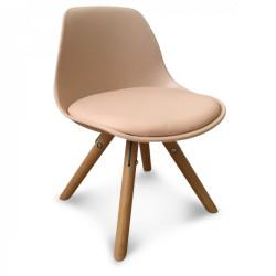 Ensemble de 2 chaises scandinave roses pour enfant Taby