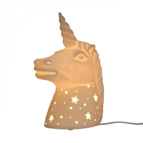 Lampe licorne en céramique