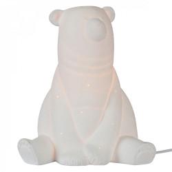 Lampe ours en porcelaine biscuit