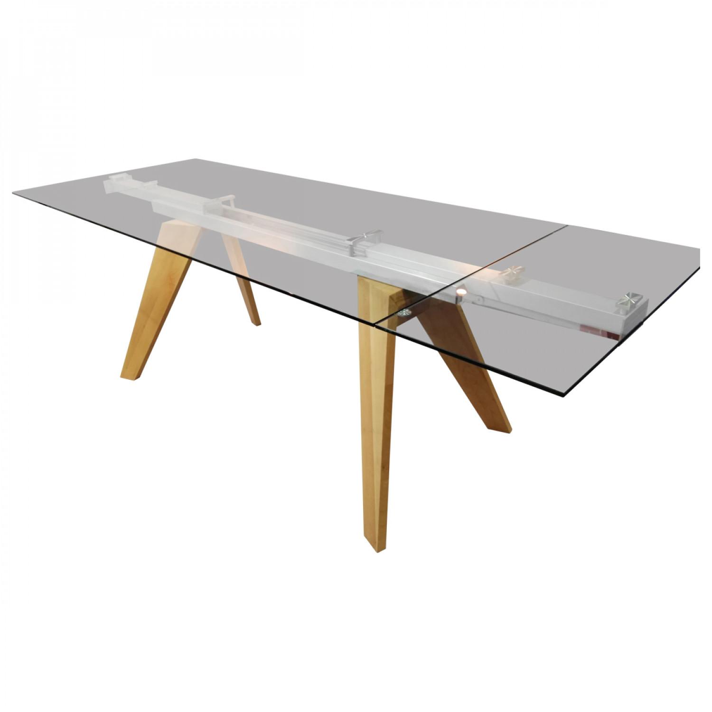 table en verre extensible - demeure et jardin