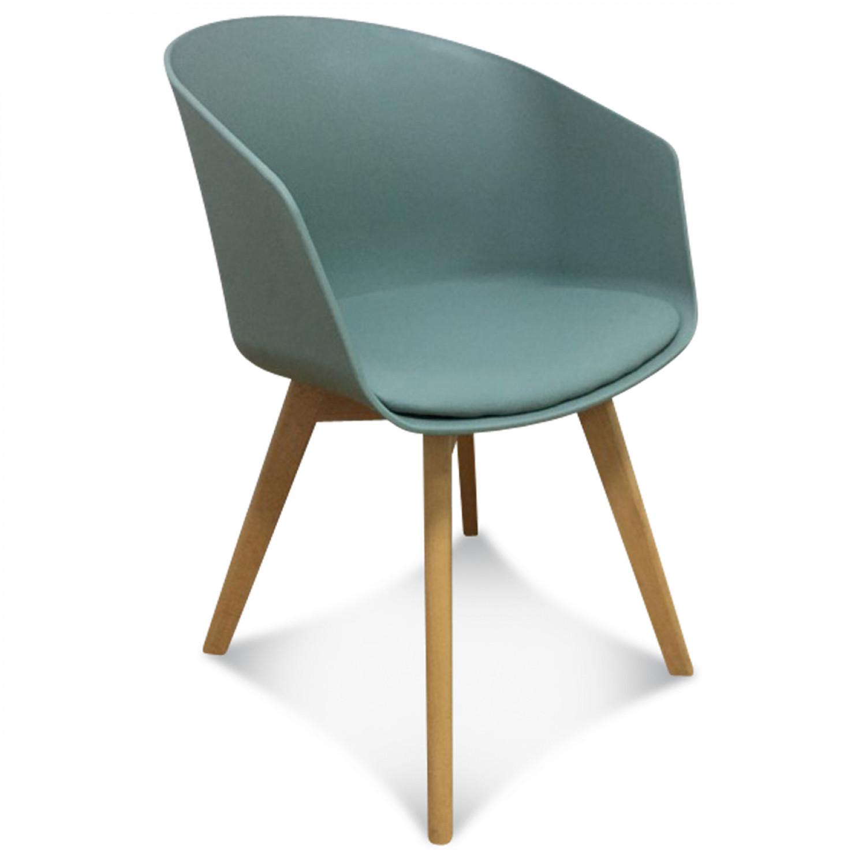 fauteuil vert coque simili cuir glitnir vendu par 2 demeure et jardin. Black Bedroom Furniture Sets. Home Design Ideas