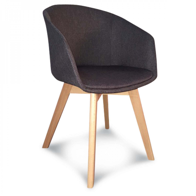 fauteuil scandinave tissu gris gj ll demeure et jardin. Black Bedroom Furniture Sets. Home Design Ideas