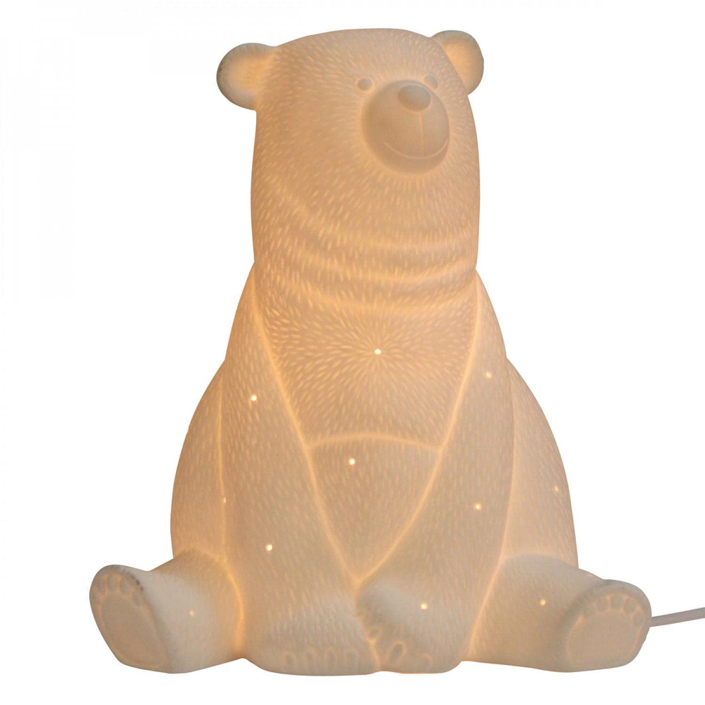 Porcelaine Biscuit Ours Lampe En Ours Lampe En Biscuit Lampe Porcelaine erBoCdx