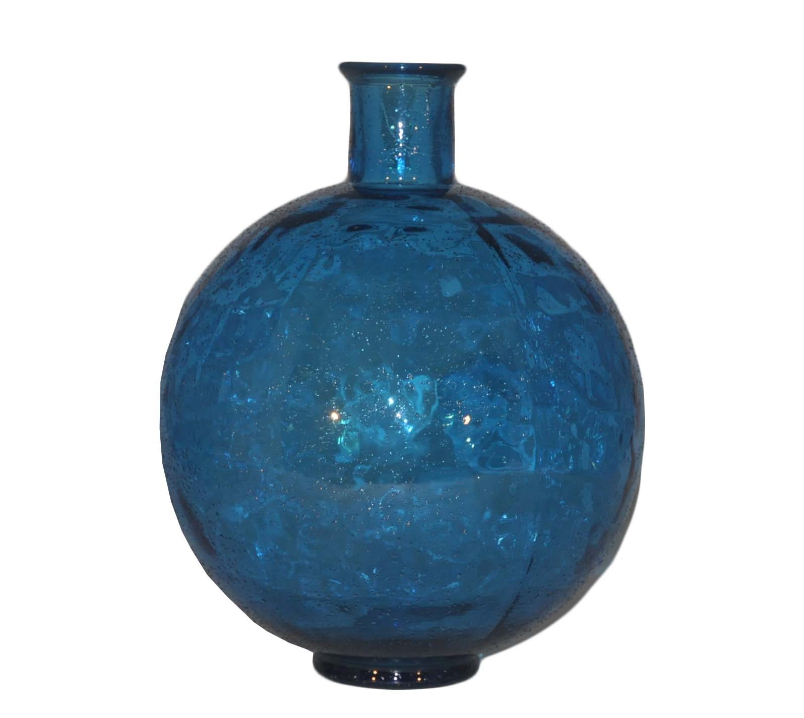 vase boule en verre bleu turquoise demeure et jardin. Black Bedroom Furniture Sets. Home Design Ideas