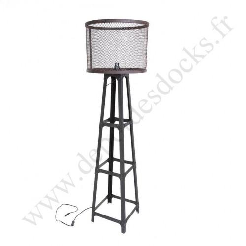 Grande Lampe Vintage industrielle en métal - 161 cm