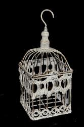 Belle cage décorative en fer forgé patinée