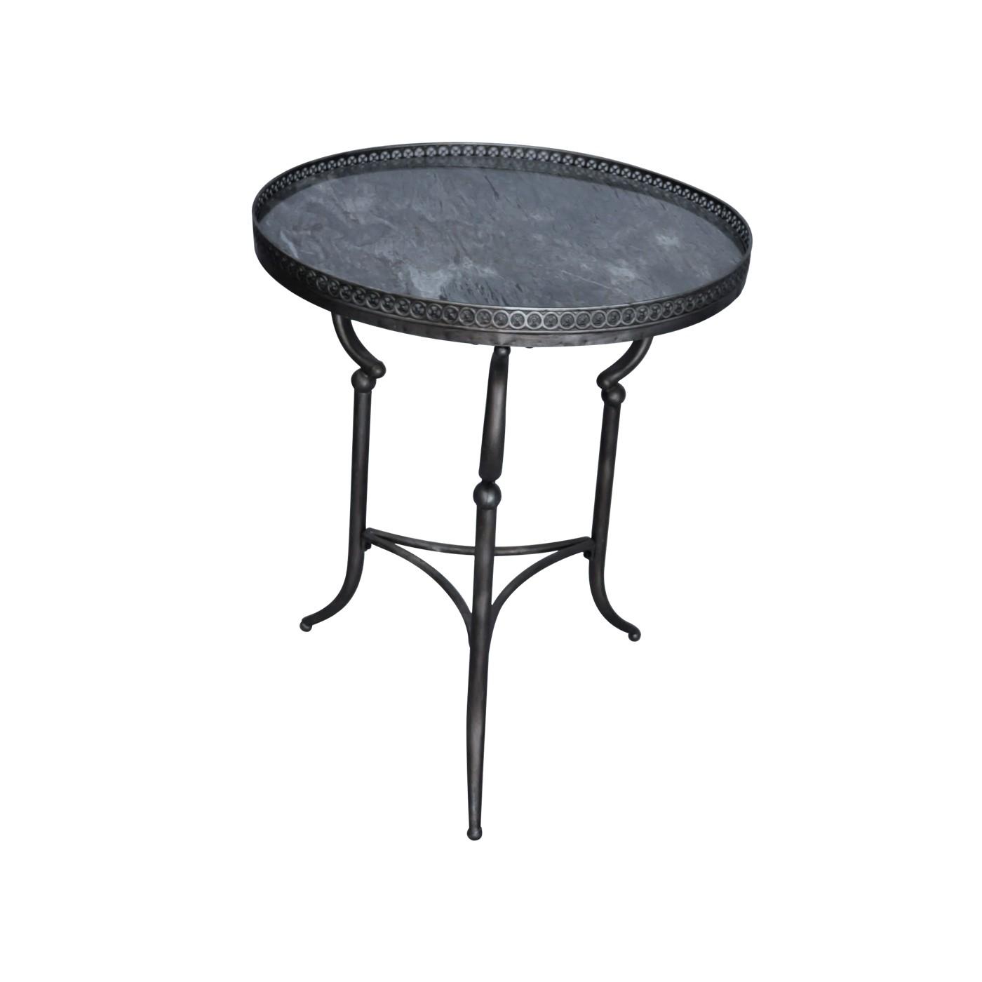 Gu ridon rond plateau marbre gris galerie demeure et - La table des merville castanet ...