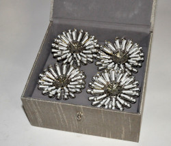 Coffret ronds de serviettes Marguerite