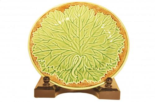 Set de 4 assiettes feuillage 26 cm