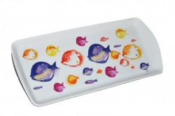 Magnifique Plat à Cake Multicolore
