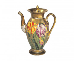 Cafetière tulipes style empire
