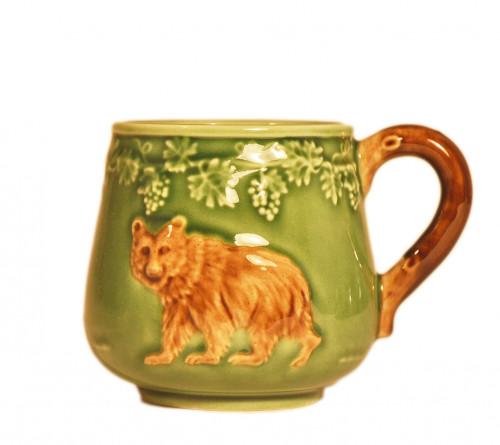 Mug Ours en Barbotine vert