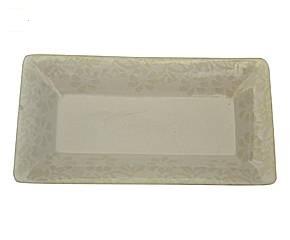Plat a cake Plateau vide-poche Céramique damassé