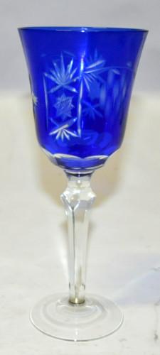 Set de 6 grands verres à pied bleu