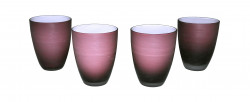 Verres Design mauves violets Set de 4