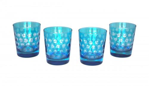 Set de 4 verres à whisky turquoise