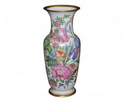 Vase fleuri style Napoléon III