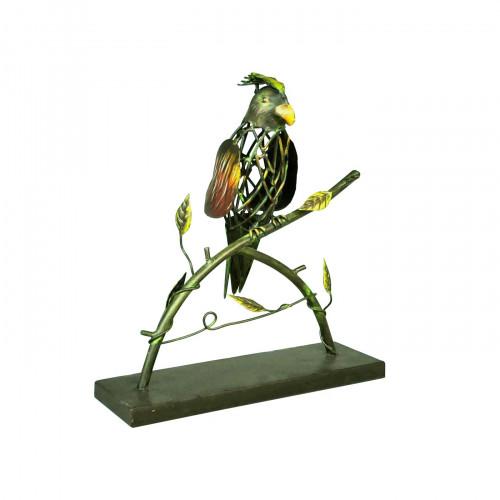 Perroquet coloré en fer forgé