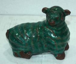 Mouton Vert en Céramique