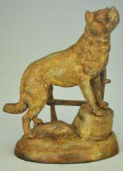 Statue Chien de garde en Bronze
