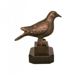 Oiseau en bronze sur base marbre