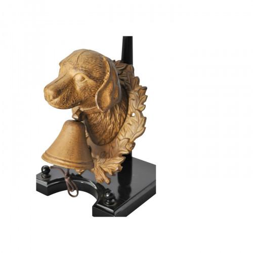 Cloche clochette de porte chien en fonte