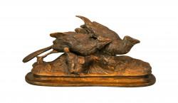 Perdrix en bronze