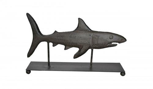Requin trophée en fonte