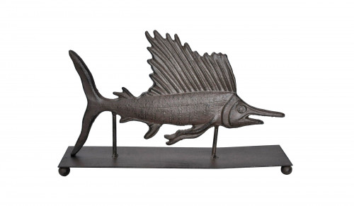 Marlin trophée à poser en fonte