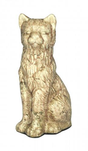Chat en Terre Cuite statue chat terre cuite