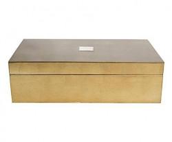Boite design laquée Rectangulaire Bronze
