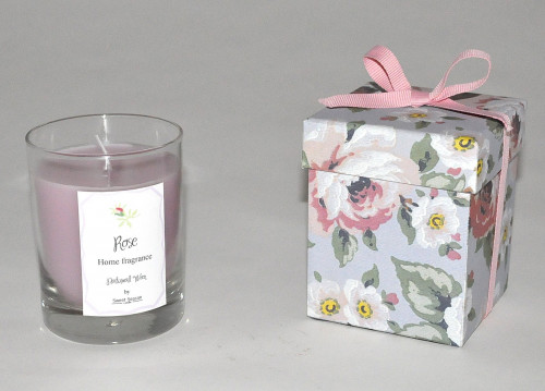 bougie photophore senteur rose demeure et jardin. Black Bedroom Furniture Sets. Home Design Ideas