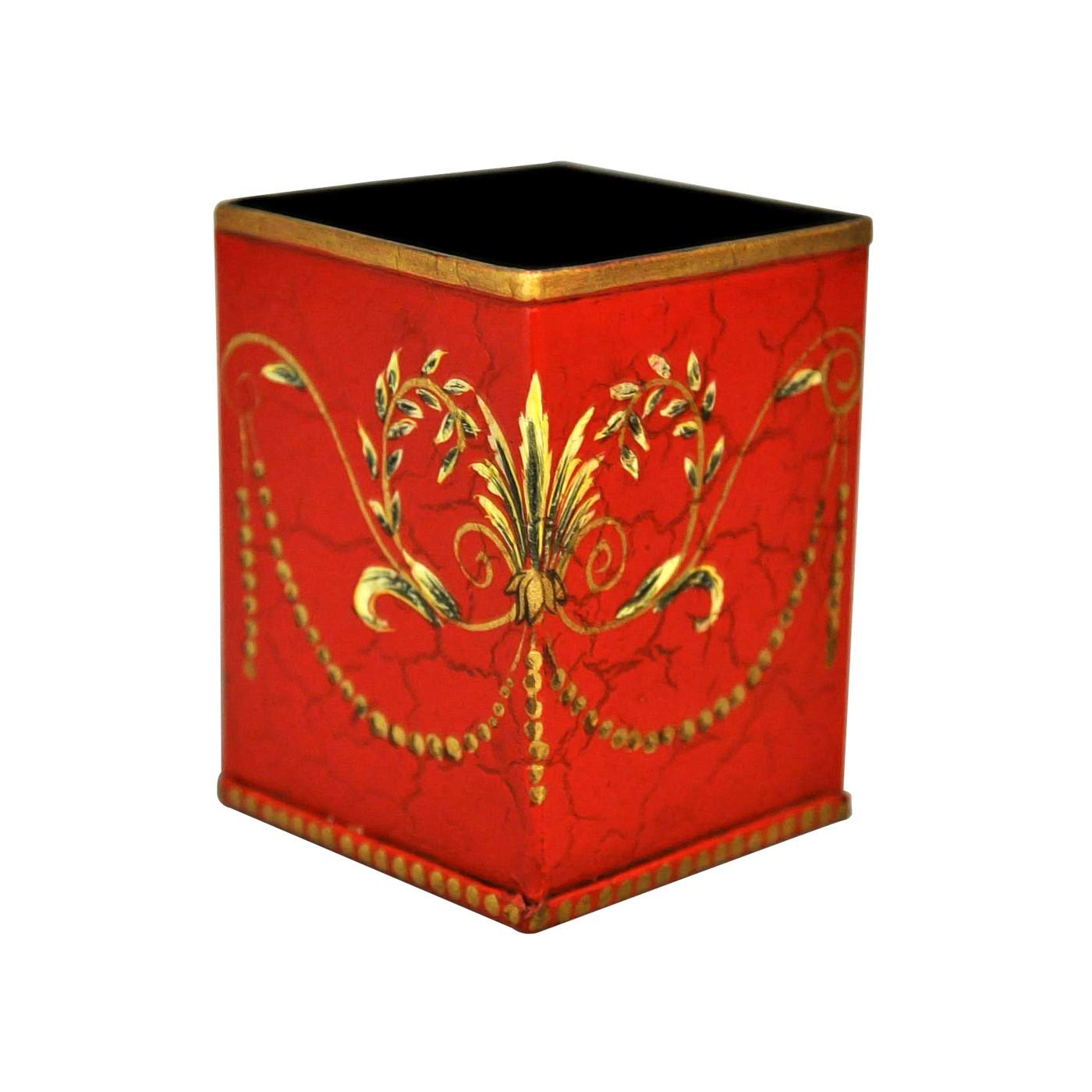 pot stylos t le peinte rouge demeure et jardin. Black Bedroom Furniture Sets. Home Design Ideas