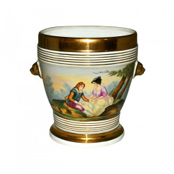 Cache-pot porcelaine style Louis Philippe