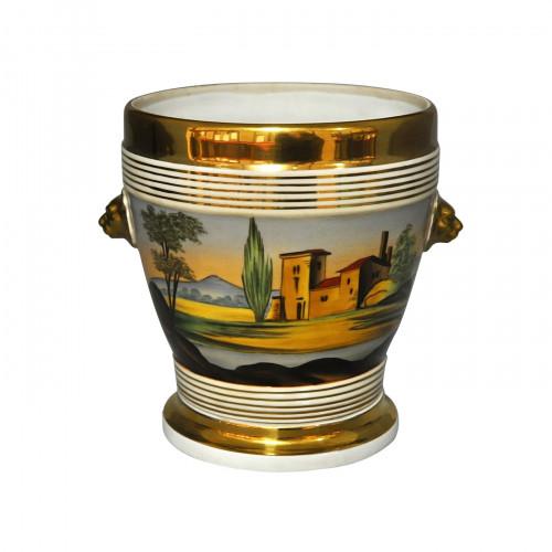 Cache-pot porcelaine style Louis Philippe