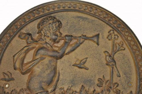 Plaque décorative en Fonte