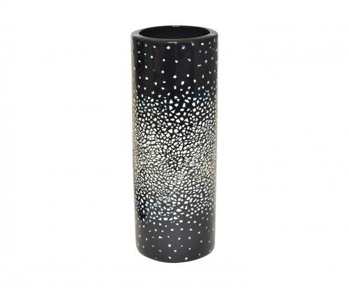 Vase rouleau céramique noir et coquille d'œuf