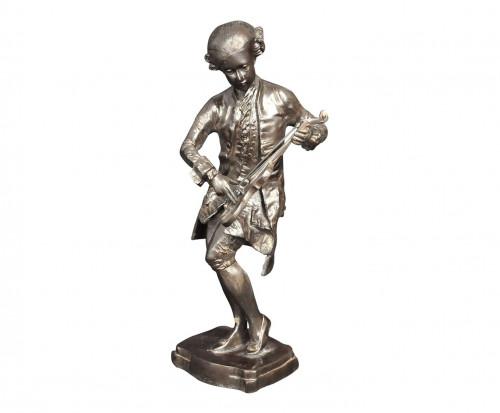 Statue de violoniste en bronze Mozart