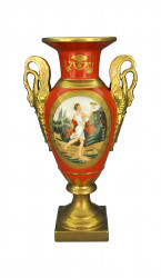Vase médicis orange style empire