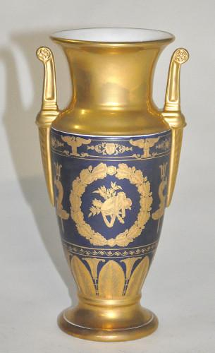 Vase bleu et doré Style Empire