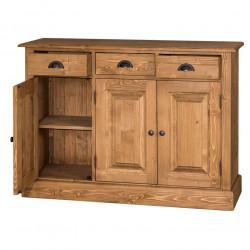 Bahut en bois massif - 3 portes et 3 tiroirs
