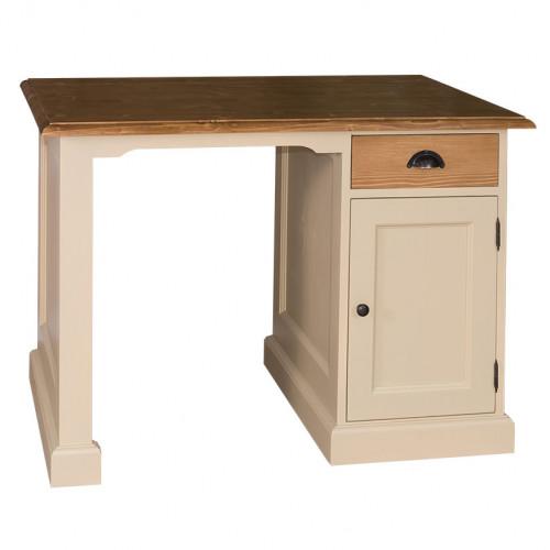 Bureau en bois massif ROMANE - 110x70x78 cm