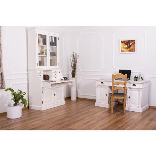 Secrétaire bureau en bois massif ROMANE - 110x49x217 cm