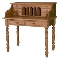 Bureau secrétaire bonheur du jour en bois massif ROMANE - 109x60x110 cm