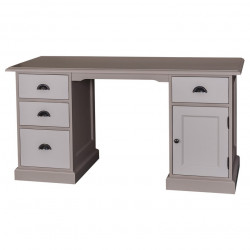 Bureau avec placard et tiroirs