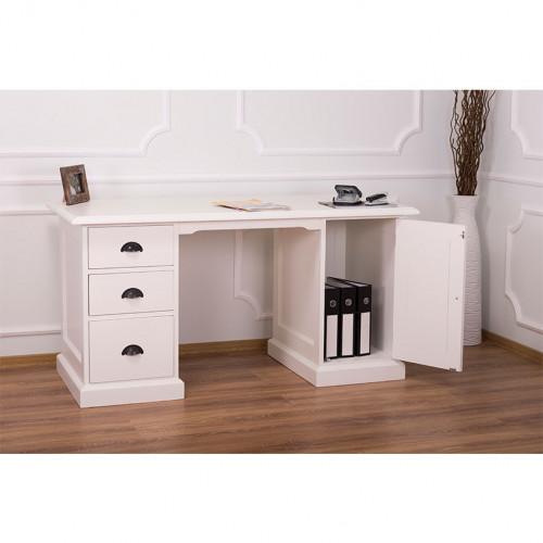 Bureau à 3 tiroirs et 1 placard